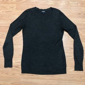 Express Women Large Fitted Ribbed CrewNeck Sweater